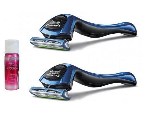 Pack de 2 maquinillas Wilkinson Sword Protector 3 y espuma de afeitar barato, maquinillas de afeitar baratas, chollos en maquinillas de afeitar, ofertas en maquinillas de afeitar