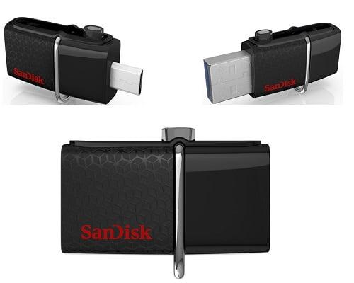 Memoria USB 3.0 SanDisk Dual 64 Gb barato, memorias USB baratas, chollos en memorias USB, pendrives baratos