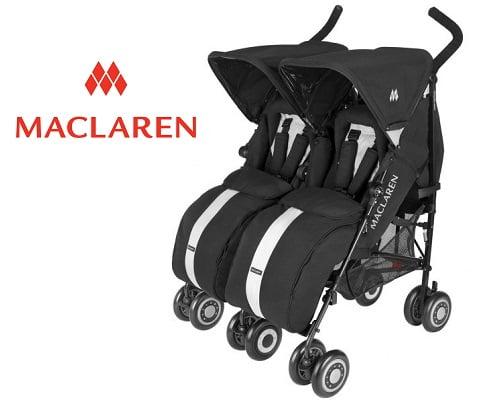 Silla de paseo de gemelos Maclaren Twin Techno barata, sillas de paseo para gemelos baratas, chollos en sillas para gemelos