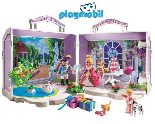 Maletín de cumpleaños de Playmobil princesas barato, juguetes de Playmobil baratos, chollos en juguetes de Playmobil, chollos en Playmobil, Playmobil baratos