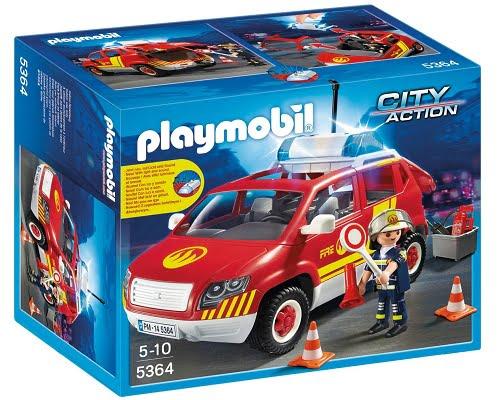 Coche jefe de bomberos de Playmobil 5364 barato, juguetes de Playmobil baratos, chollos en Playmobil, ofertas en Playmobil