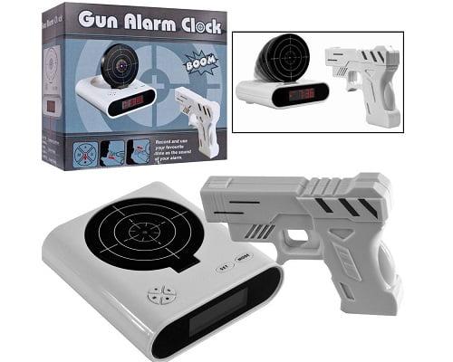 Despertador con pistola y diana barato, despertadores baratos, chollos en despertadores, ofertas en despertadores