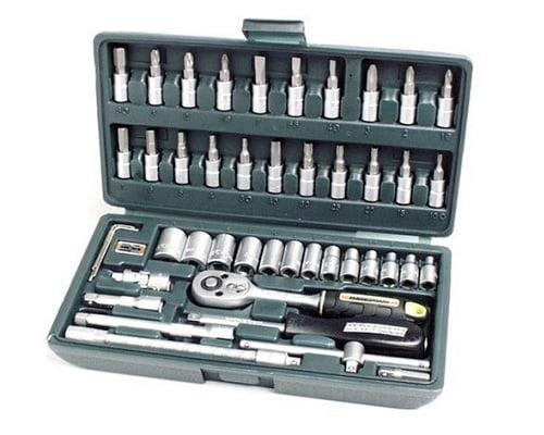 Juego de llaves de vaso de 46 piezas Mannesman barato, herramientas baratas, chollos en herramientas, ofertas en herramientas