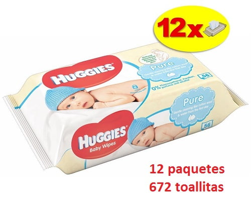 672 toallitas para bebé Huggies baratas, toallitas para bebés baratas, chollos en toallitas para bebés