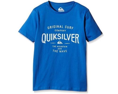 Camiseta para niño Quiksilver barata, ropa para niño barata, chollos en ropa para niño, ofertas en ropa para niño