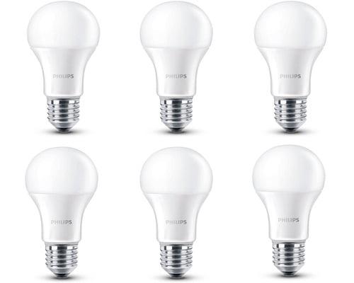 Pack de 6 bombillas de LED Philips barato, bombillas de LED baratas, chollos en bombillas de LED, ofertas en bombillas de LED