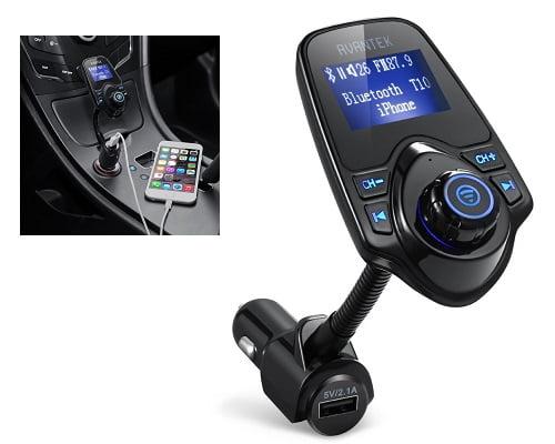 Transmisor FM Bluetooth Avantek barato, transmisores FM baratos, chollos en transmisores FM, ofertas en transmisores FM