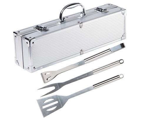Utensilios para barbacoa con maletín Ultranatura baratos, cubiertos para barbacoa baratos, pinzas para barbacoa baratas, chollos en utensilios para barbacoa