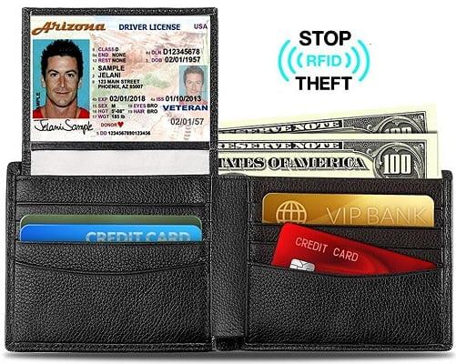 Cartera de piel OXA RFID barata, carteras baratas, chollos en carteras, ofertas en carteras, billeteras baratas, chollos en billeteras, ofertas en billeteras