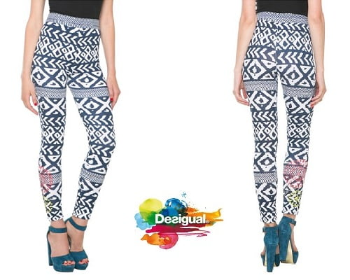 Leggins Desigual Atypical Tribal baratos, leggins baratos, chollos en leggins, ofertas en leggins