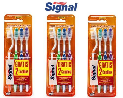 Pack de 12 cepillos de dientes Signal barato, cepillos de dientes baratos, chollos en cepillos de dientes, ofertas en cepillos de dientes