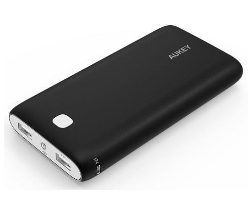 Batería externa Aukey Powerbank 20000mAh baratas, baterías externas baratas, chollos en baterías externas, ofertas en baterías externas