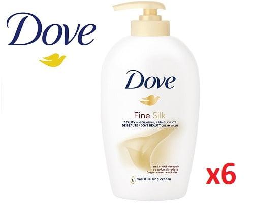 Pack de 6 unidades de jabón líquido Dove barato, jabones líquidos barato, chollos en jabones líquidos, jabón barato