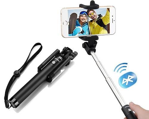 Palo de selfie con Bluetooth Mpow iSnap Pro X barato, palos de selfie baratos, chollos en palos de selfie