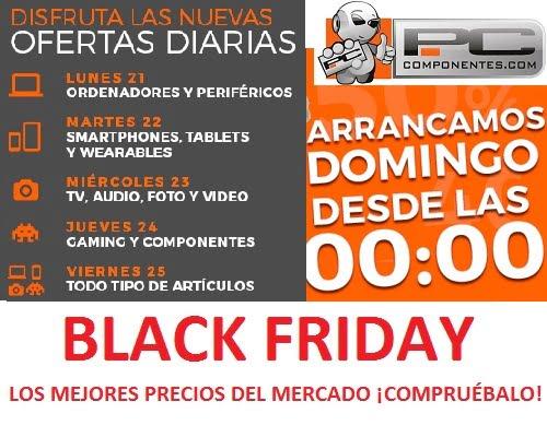 Black Friday 2016 en PCComponentes, ofertas del black Friday, chollos del Black Friday