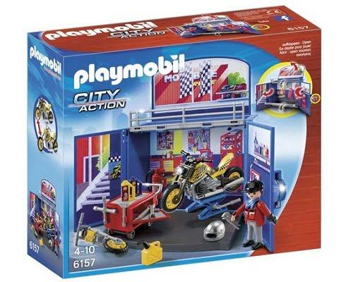 Cofre de motos de Playmobil barato, juguetes de Playmobil baratos, chollos en juguetes de Playmobil