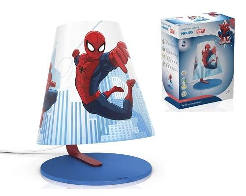 Lámpara de mesita LED Philips Marvel Spiderman barata, lámparas de mesita baratas, chollos en lámparas de mesa, ofertas en lámparas de mesa