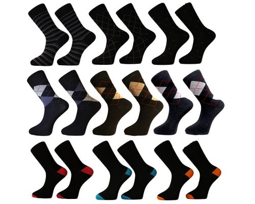 Pack de 12 pares de calcetines FM London baratos, calcetines baratos, chollos en calcetines, ofertas en calcetines