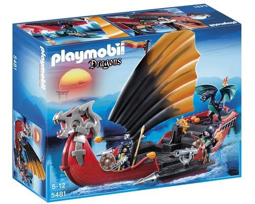 Barco de batalla del dragón de Playmobil barato, juguetes de Playmobil baratos, chollos en juguetes de Playmobil, ofertas en juguetes de Playmobil