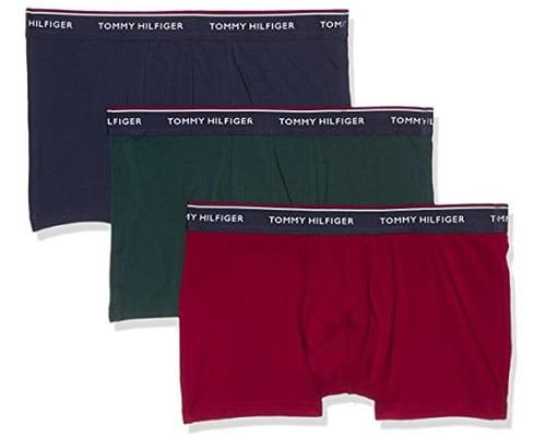 Pack de tres calzoncillos bóxer Tommy Hilfiger baratos, calzoncillos boxer baratos, chollos en calzoncillos de marca, chollos en bóxer de marca, ropa interior de marca barata, chollos en ropa interior de marca