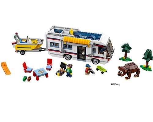Autocaravana de vacaciones de LEGO Creator barata, juguetes baratos, chollos en juguetes, ofertas en juguetes