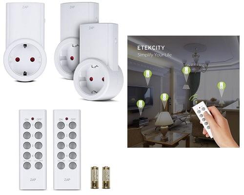Enchufes Inalámbricos Inteligentes con mando a distancia Etekcity baratos, enchufes inteligentes baratos, chollos en enchufes inteligentes ,enchufes con mando a distancia baratos