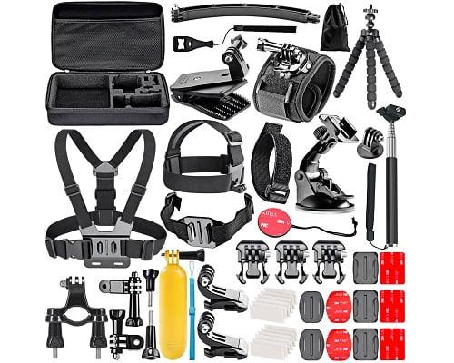 Kit de 50 accesorios Neewer para GoPro Hero y otras barato, accesorios para cámaras deportivas baratas, chollos en accesorios para cámaras deportivas, ofertas en accesorios para cámaras deportivas