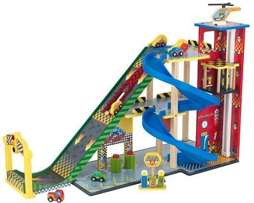 Mega rampa de carreras de KidKraft barata, juguetes baratos, chollos en juguetes, ofertas en juguetes