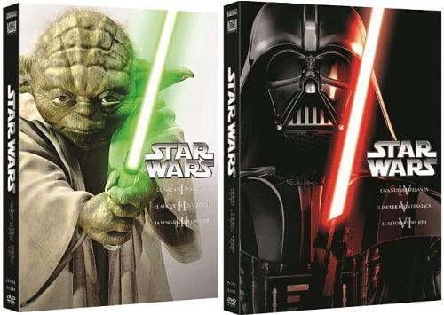 Trilogías Star Wars en DVD baratas, películas baratas, chollos en películas, ofertas en películas
