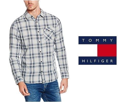 Camisa de algodón Tommy Hilfiger barata, camisas baratas, chollos en camisas, ofertas en camisas