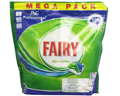 100 cápsulas para lavavajillas Fairy All in One baratas, detergente de lavavajillas barato, chollos en jabón de lavavajillas, ofertas en detergente de lavavajillas