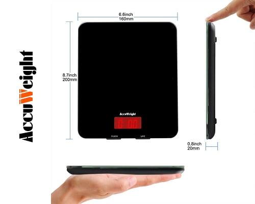 Báscula digital de cocina Accuweight barata, básculas de cocina baratas, chollos en básculas de cocina, ofertas en básculas de cocina