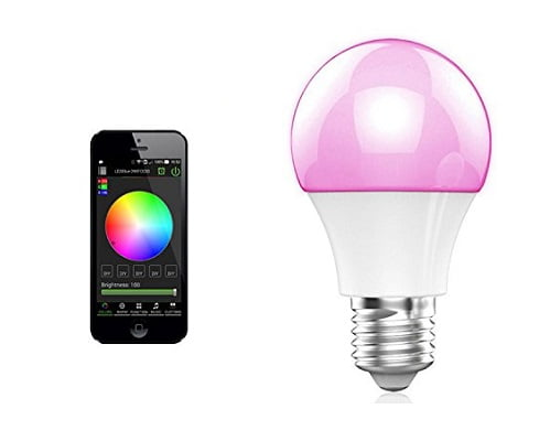 Bombilla LED multicolor Bohmain con Bluetooth barata, bombillas LED multicolor baratas, chollos en bombillas LED Bluetooth