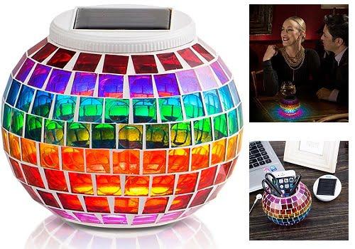 Lámpara Solar Mosaico GRDE barata, lámparas solares baratas, chollos en lámparas solares, ofertas en lámparas solares