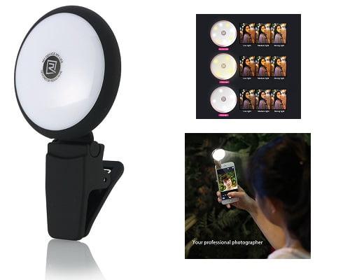 Luz externa recargable con pinza Celyc barata, luces LED baratas, chollos en luces LED, lámparas LED baratas