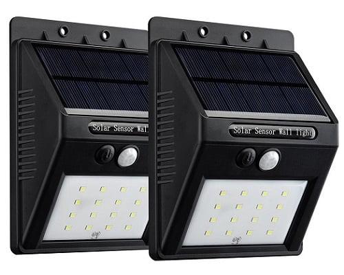 Pack de 2 focos de luz solar LED Victsing con sensor de movimiento barato, luces LED baratas, chollos en luces LED
