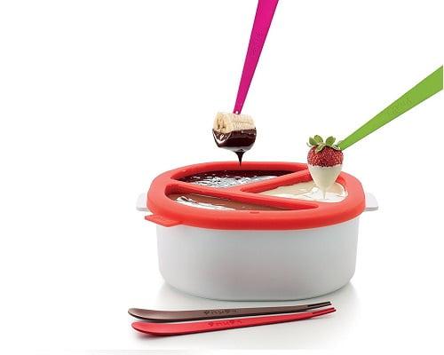 Fondue de chocolate para microondas Lékué barata, fondues baratas, chollos en fondues, ofertas en fondues