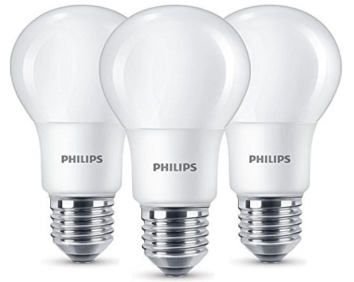 Pack de 3 bombillas LED Philips baratas, bombillas de LED baratas, chollos en bombillas de LED