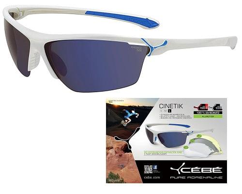 Gafas de sol deportivas con monturas intercambiables Cébé CBCINETIK1 baratas, gafas de sol deportivas baratas, chollos en gafas de sol deportivas, gafas de ciclismo baratas