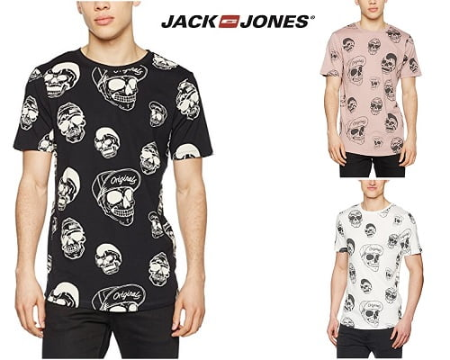 Camisetas Jack and Jones Jorbenny Crew Neck baratas, camisetas de marca baratas, chollos en camisetas de marca, ofertas en camisetas de marca
