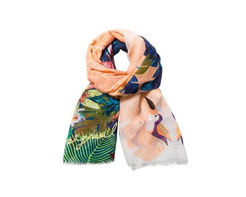 Foulard Desigual Rectangle Tropical Fly barato, fulares baratos, chollos en fulares, ofertas en fulares