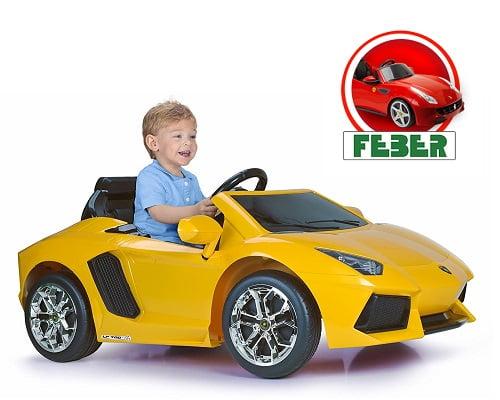 Coche Lamborghini Aventador de Feber barato, ofertas coches eléctricos de juguete, chollos en coches elétricos de juguete, coches eléctricos de juguete baratos