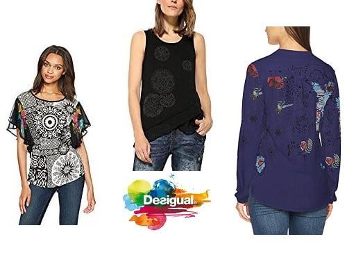 Blusas Desigual baratas, chollos en blusas de marca, ofertas en blusas de marca, blusas de marca baratas