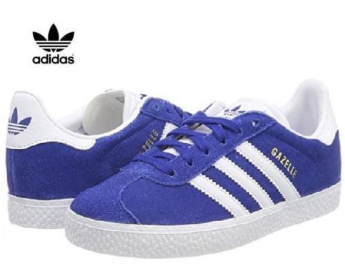 Zapatillas Adidas Gazelle para niños baratas, chollos en zapatillas de niño de marca, ofertas en zapatillas de niño de marca, zapatillas de marca baratas