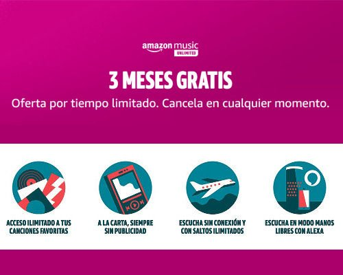 3 mes de Amazon Music Unlimited gratis