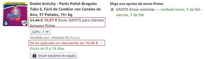 Aplicación cupón descuento Amazon