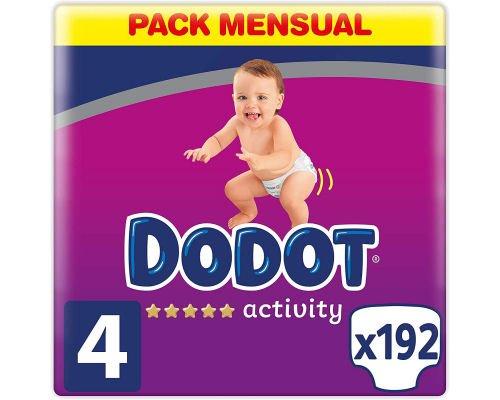 Pack de 192 pañales Dodot Activity Pants T4 barato, ofertas en pañales, pañales baratos