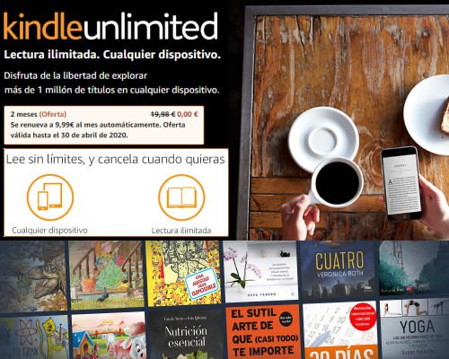 2 meses de Amazon Kindle Unlimited gratis