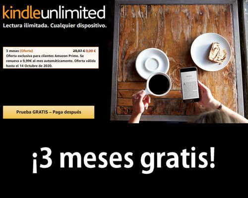 3 meses de Kindle Unlimited gratis