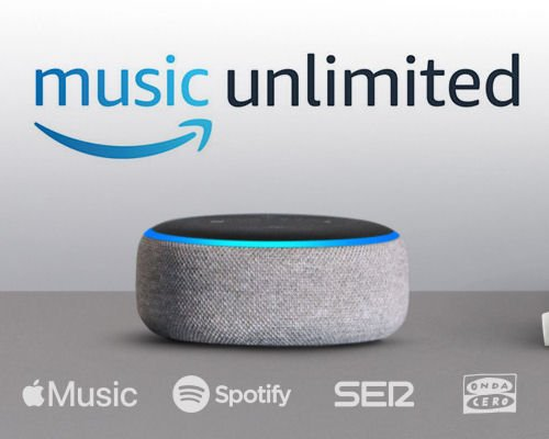 Altavoz inteligente Amazon Echo Dot y Music Unlimited baratos, altavoces inteligentes baratos